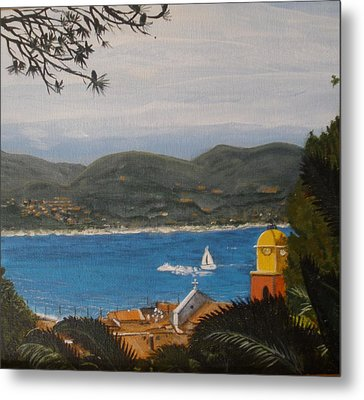 Metal Print featuring the painting St.tropez France by Betty-Anne McDonald