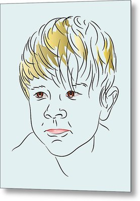 Stubborn Boy Metal Print by MM Anderson