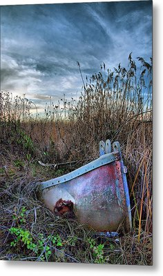 Stuck In The Marsh Metal Print by Michael  Ayers