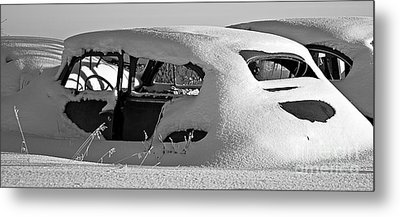 Stuck In Traffic Metal Print
