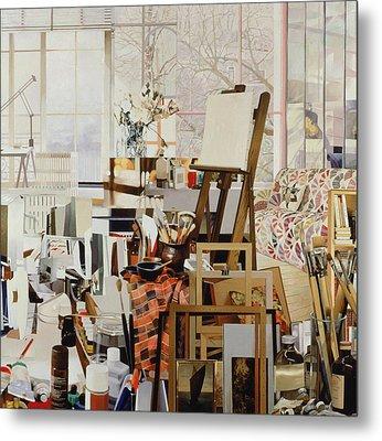 Studio, 1986 Oil On Canvas Metal Print