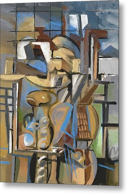 Studio With Cello Metal Print by Clyde Semler