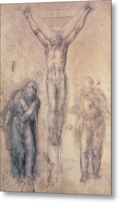 Study For A Crucifixion Metal Print by Michelangelo Buonarroti