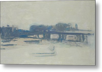 Study For Charing Cross Bridge, 1899-1901 Oil On Canvas Metal Print