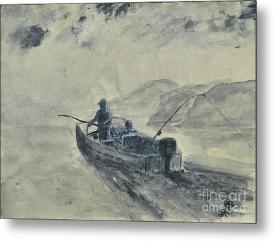 Study For Early Morning Blue Mesa Metal Print by Dana Carroll