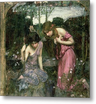 Study For Nymphs Finding The Head Of Orpheus, C.1900 Oil On Canvas Metal Print
