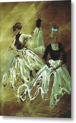 Study For Spanish Rehearsal Metal Print by Podi Lawrence