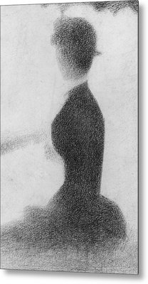 Study For Sunday Afternoon On The Island Of La Grande Jatte Metal Print by Georges Pierre Seurat