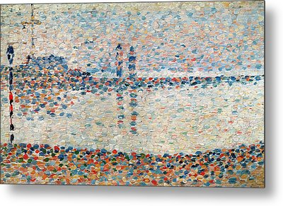 Study For The Channel At Gravelines Evening Metal Print by Georges Pierre Seurat