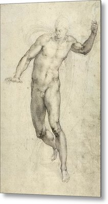 Study For The Last Judgement  Metal Print by Michelangelo  Buonarroti