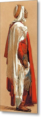 Study Of A Man In Oriental Costume Metal Print