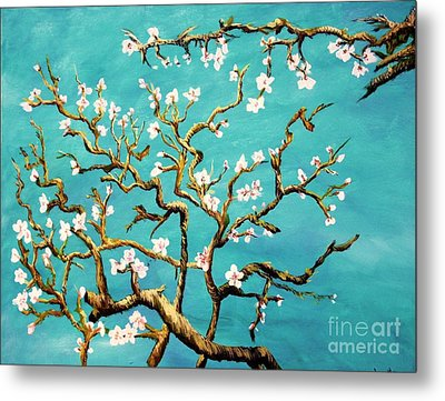 Metal Print featuring the painting Study Of Almond Branches By Van Gogh by Donna Dixon
