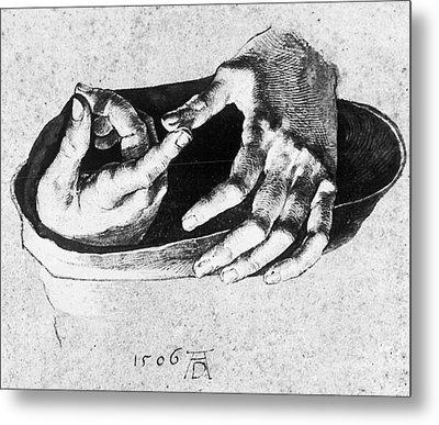 Study Of Christ's Hands Metal Print