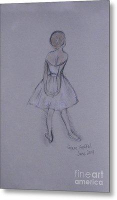 Study Of Degas Ballet Dancer Metal Print