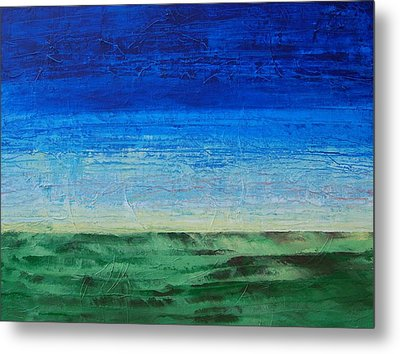 Metal Print featuring the painting Study Of Earth And Sky by Linda Bailey