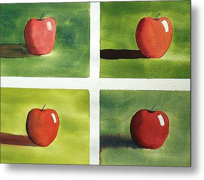 Study Red And Green Metal Print