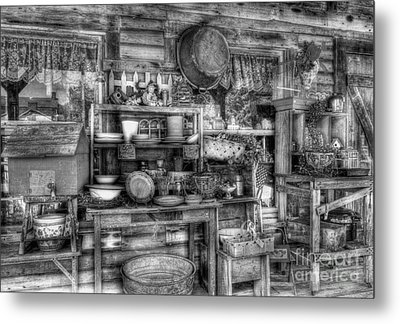 Stuff For Sale Bw Metal Print by Mel Steinhauer