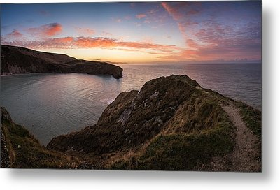 Stunning Sunrise Over Ocean Landscape Metal Print by Matthew Gibson