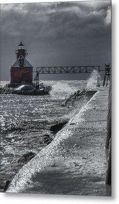 Sturgeon Bay After The Storm Metal Print by Joan Carroll