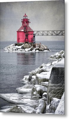 Sturgeon Bay Pierhead Metal Print