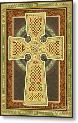 Stylized Celtic Cross Metal Print
