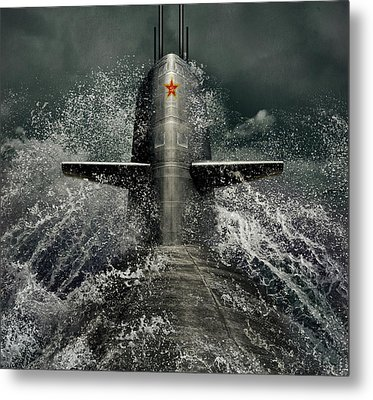 Submarine Metal Print by Dmitry Laudin
