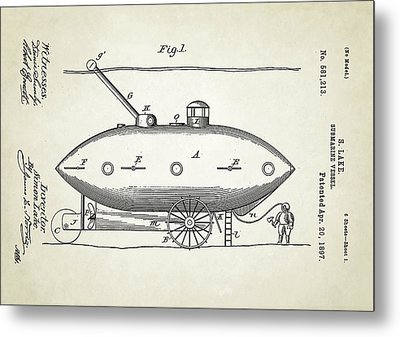 Submarine Patent Metal Print by Us Patent And Trademark Office