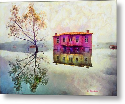 Submerged Reflections Metal Print by George Rossidis