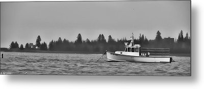Metal Print featuring the photograph Subtle Mooring by Richard Bean