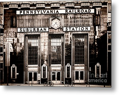 Metal Print featuring the photograph Suburban Station by Olivier Le Queinec