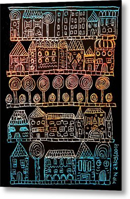 Suburbia Metal Print by Mimulux patricia no No