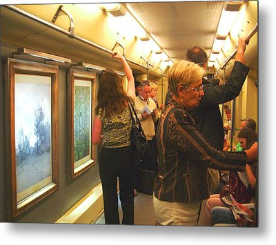 Metal Print featuring the photograph Subway Art by Julia Ivanovna Willhite