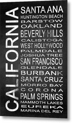 Subway California State 1 Metal Print