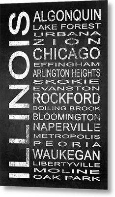 Subway Illinois State 1 Metal Print