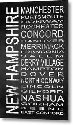 Subway New Hampshire State 1 Metal Print by Melissa Smith