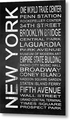Subway New York 3 Metal Print by Melissa Smith