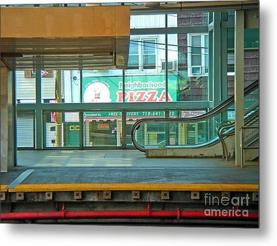 Subway Pizza Metal Print