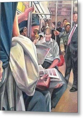 Subway Prelude Metal Print by Julie Orsini Shakher