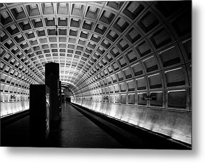 Subway Station Metal Print by Celso Diniz