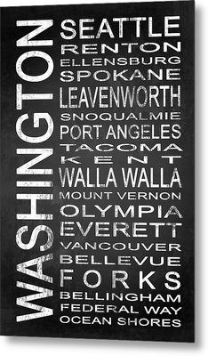 Subway Washington State 1 Metal Print by Melissa Smith