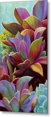 Metal Print featuring the painting Succulent Jewels by Sandi Whetzel