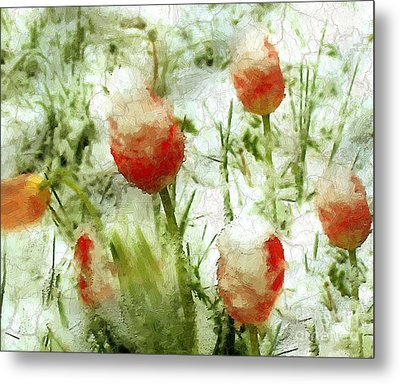 Suddenly Snow Metal Print by RC deWinter