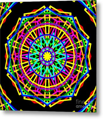 Sudoku Connections Kaleidoscope Metal Print by Ron Brown
