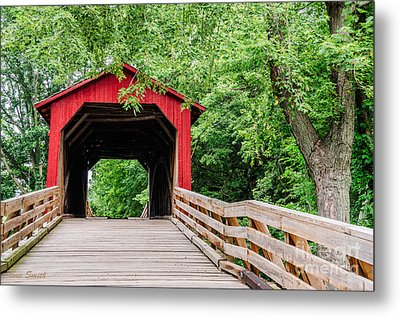 Sugar Creek Covered Bridge Metal Print