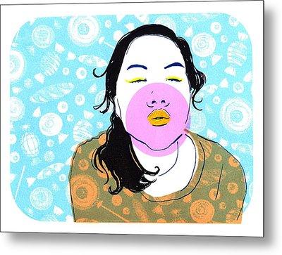 Sugar Lips Metal Print by Vanessa Baladad