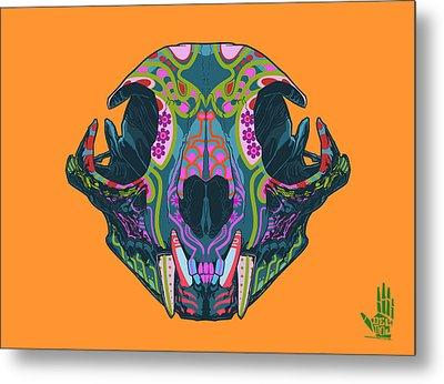 Sugar Lynx  Metal Print by Nelson dedos Garcia
