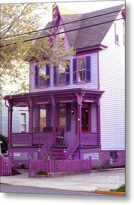 Sugar Plum Purple Victorian Home Metal Print by Kristie Hubler