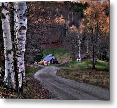 Sugar Shack - Reading Vermont Metal Print by Thomas Schoeller