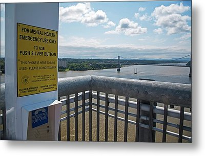 Suicide Prevention Telephone Metal Print by Jim West
