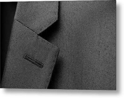 Suit Texture Metal Print by Mike Taylor